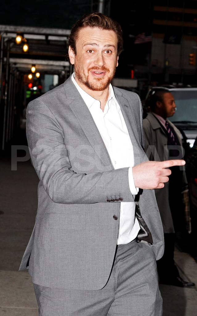 Jason Segel met up with Michelle Williams for dinner in SoHo in NYC.