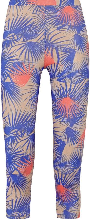 Palm-Print Tropical Yoga Pants | POPSUGAR Fitness