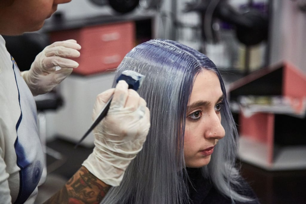 As the look is took shape, so did the compliments around the salon. At this point, I noticed a viewing party of stylists and clients around me, gawking over my acid-wash hair. Is this what life is now?