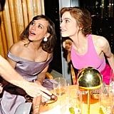 Emma Stone and Rashida Jones