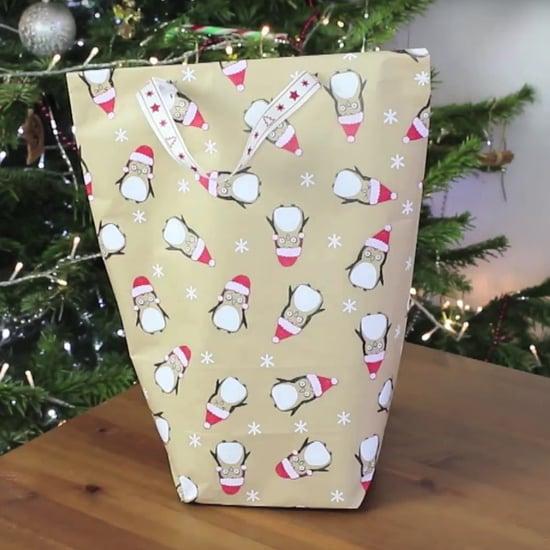 طريقة صنع كيس هدايا من أوراق التغليف