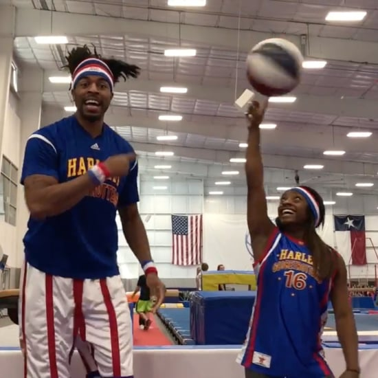 Simone Biles Harlem Globetrotter Video