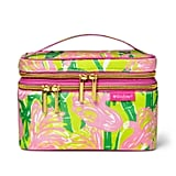 Lilly Pulitzer Fan Dance Print Double-Zip Cosmetic Train Case