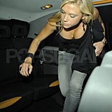 Chelsy Davy leaves Boujis.