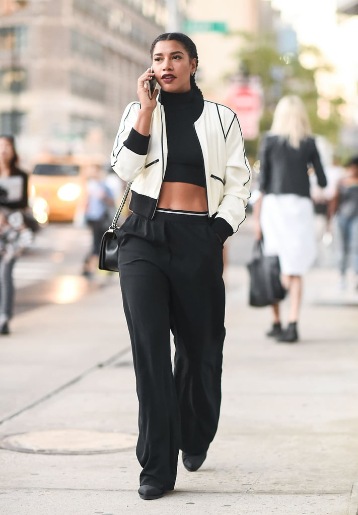 Hannah Bronfman bared her midriff, but covered up with a light layer for a pulled-together casual look.