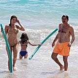 Stephanie Seymour and Peter Brant played with Lily in St. Barts.