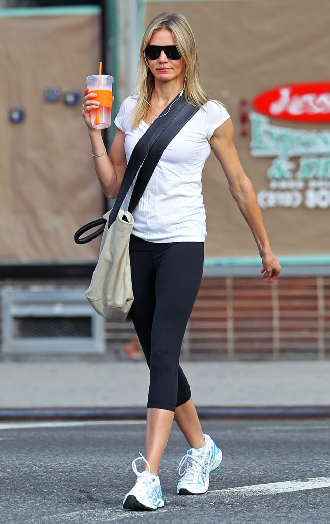 Cameron Diaz carried an eco-friendly cup in NYC.