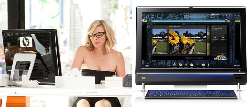 Detials on Samantha's HP TouchSmart 600 in Sex and the City 2