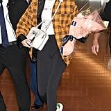 Gigi Hadid Storets Plaid Jacket November 2018