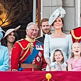 Pictured: The Royal Family at Buckingham Palace
