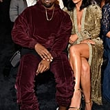When Kim hit the Grammys in a gilded Jean Paul Gaultier robe and Kanye just relaxed in a sweatsedo.