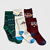 It's never too early to introduce kids to the classic holiday gift of fun, printed socks. This Kids Geometric Shape Crew Sock 3-Pack ($13) totally fits the bill.