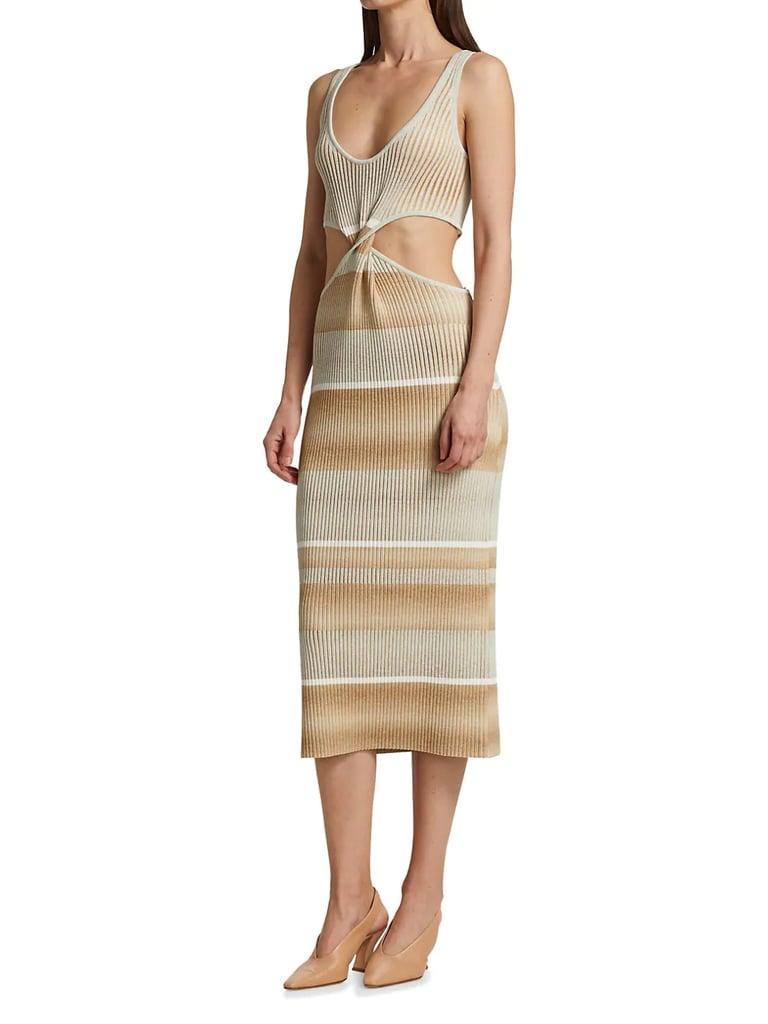 Jonathan Simkhai Colleen Striped Cutout Tank Dress