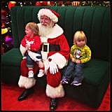 """Hanging with Santa!"" Source: Instagram user kellyg13"