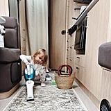 A tiny home means less cleaning, but if your toddler loves vacuuming, you roll with it!