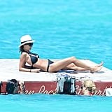 Nicole Richie soaked up the sun on a barge.
