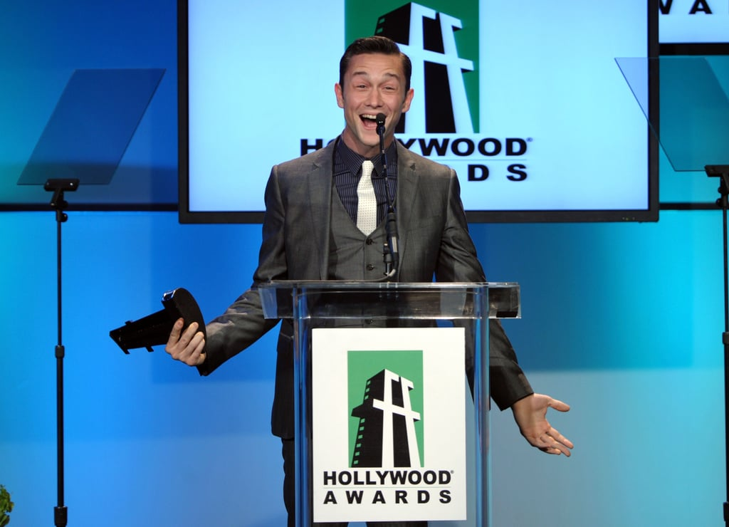 Joseph Gordon-Levitt was shocked to be honored at the 2011 Hollywood Film Awards.