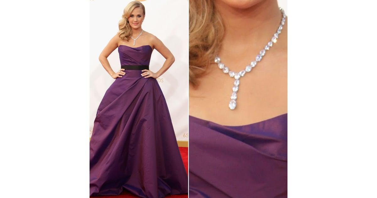 Carrie Underwood Dress At Emmys 2013 Pictures Popsugar Fashion