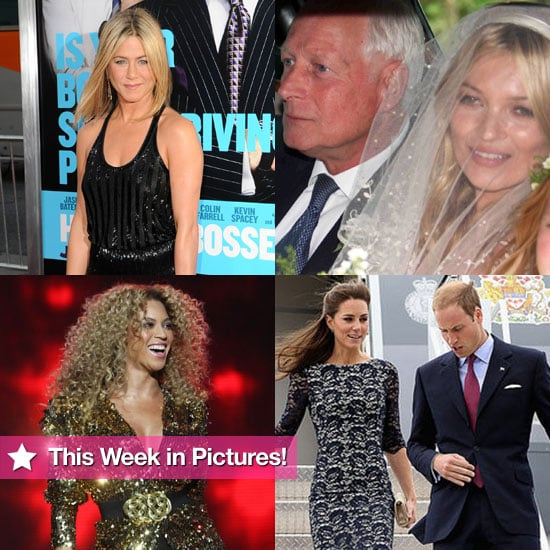 Jennifer Aniston's New Tattoo, Prince William and Kate in Canada, Beyoncé Rocks Glastonbury, and More in This Week in Pictures!