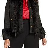 Halogen x Atlantic-Pacific Feather Trim Tweed Jacket