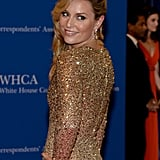 Lindsey Vonn sparkled in gold.