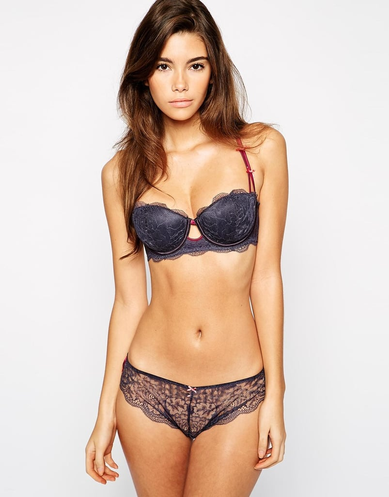 Heidi Klum Intimates Cle D'Amour Balconette Bra, $76.92 and Thong, $48.08