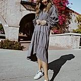 Easy Breezy Gray Swing Dress