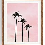 Deny Designs Palm Trees & Sunset Framed Wall Art