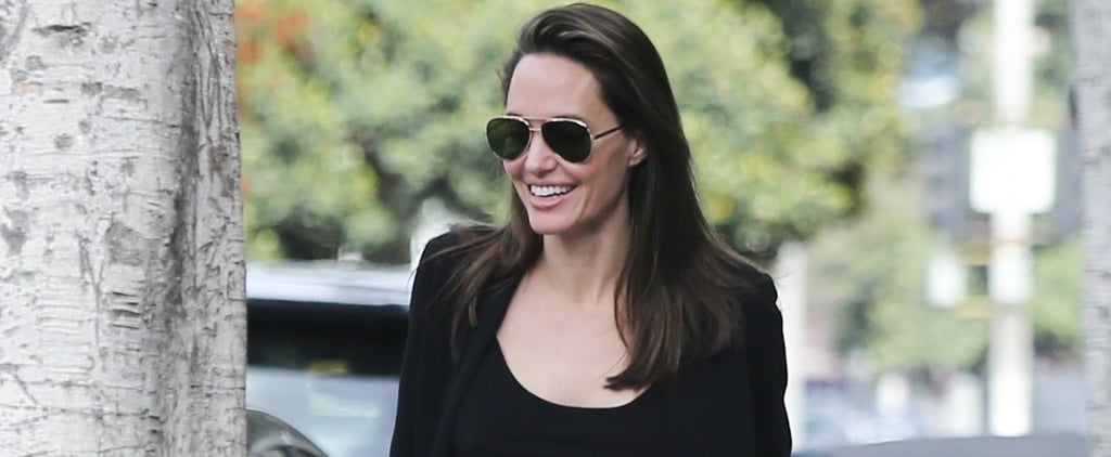 Angelina Jolie Wearing Black Kitten Heels May 2018