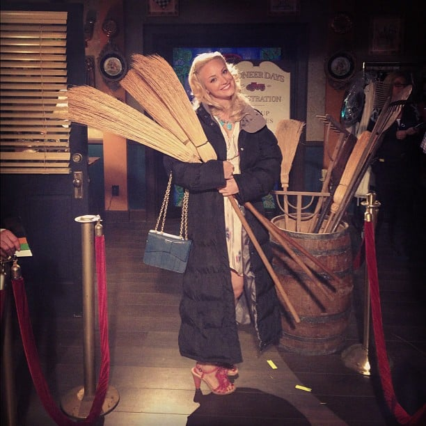 "Jaime King shared a photo from the set of Hart of Dixie, citing ""Bluebell does Quidditch."" Source: Instagram user jaime_king"