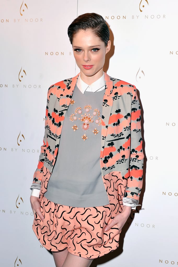 Coco Rocha went against the grain with short hair and shorts.