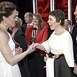 When she met Kate Middleton.