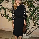 Diane Kruger in a long-sleeved dress.