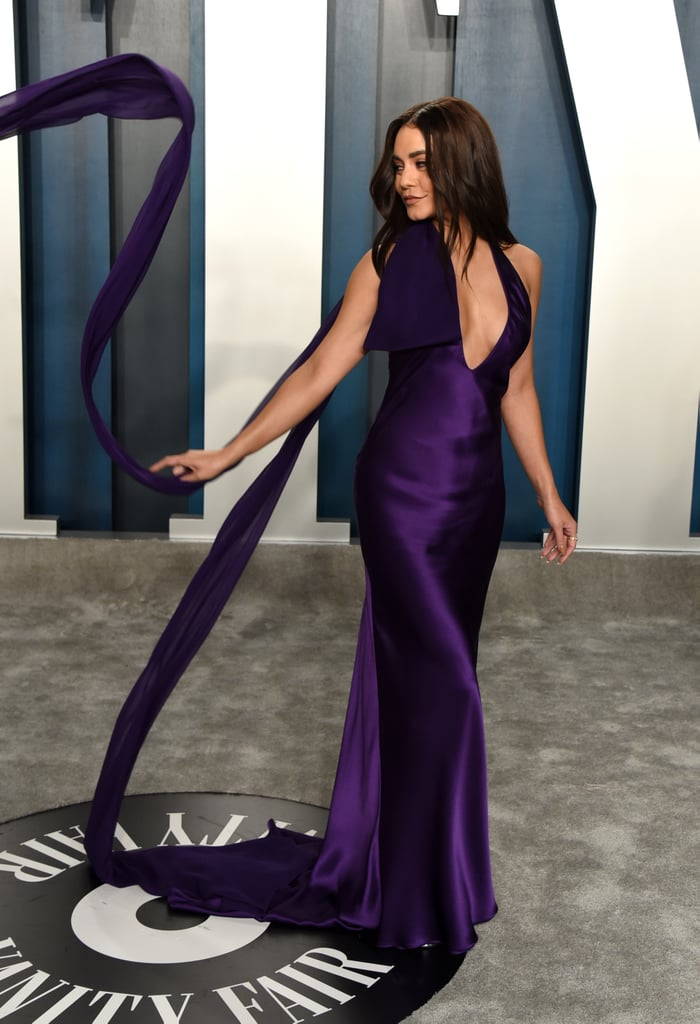 Vanessa Hudgens Purple Dress Vanity Fair Oscars Party 2020