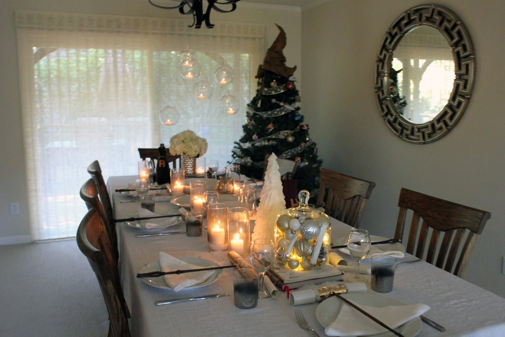 Light candles to give the table a magical feel.