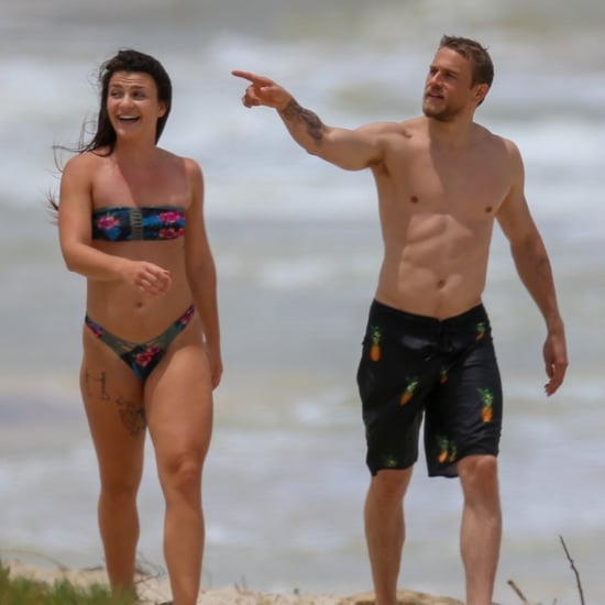 Charlie Hunnam Shirtless on the Beach in Hawaii April 2018