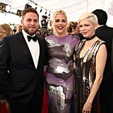 Pictured: Michelle Williams, Jonah Hill, and Busy Philipps