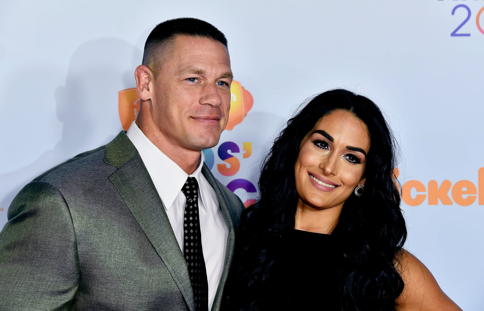 LOS ANGELES, CA - MARCH 11:  Host John Cena and Nikki Bella at Nickelodeon's 2017 Kids' Choice Awards at USC Galen Center on March 11, 2017 in Los Angeles, California.  (Photo by Frazer Harrison/Getty Images)