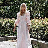 The Drop Pastel Pink Balloon-Sleeved Maxi Dress by @thefashionguitar