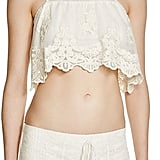 Band of Gypsies Embroidered Tulle Crop Top ($38)