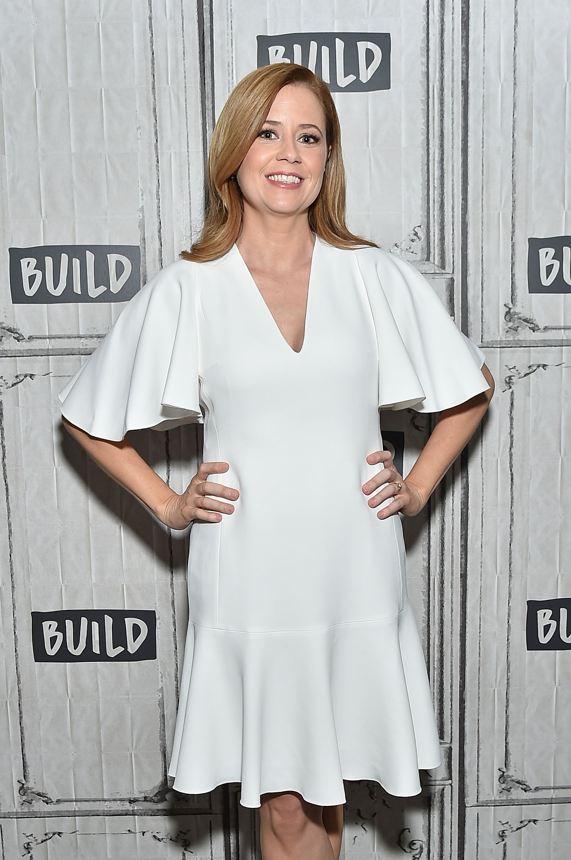 NEW YORK, NY - MARCH 23:  Actress Jenna Fischer poses for a picture at Build Studio on March 23, 2018 in New York City.  (Photo by Mike Coppola/Getty Images)