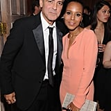 George Clooney posed with Kerry Washington.