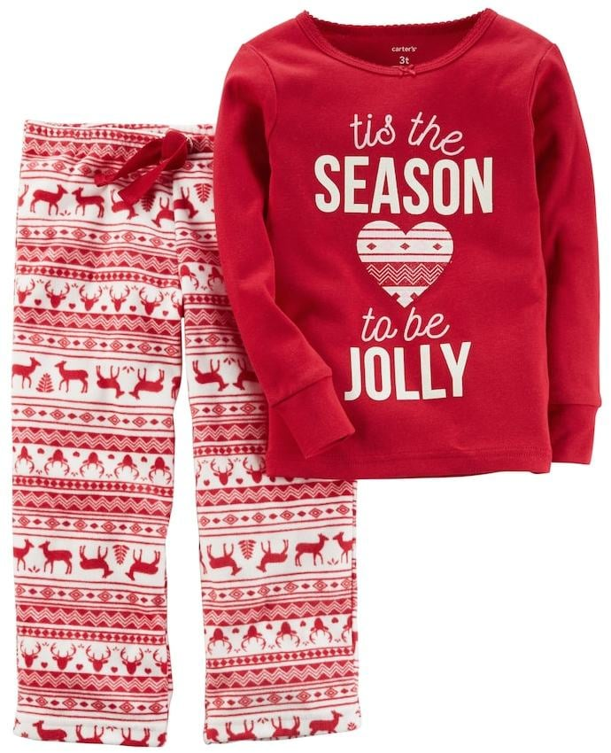 9dad719aa carters girls 4 14 tis the season to be jolly christmas top ...