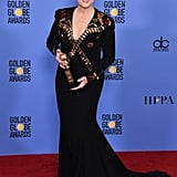 Meryl wore a custom-made Givenchy Haute Couture gown to the 2017 Golden Globe Awards.
