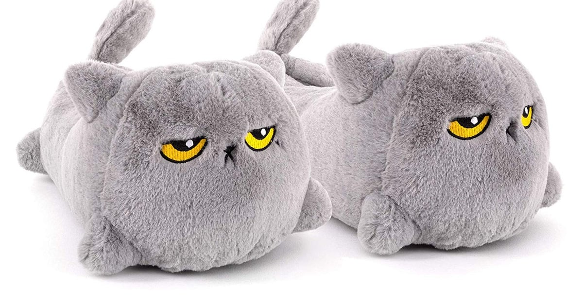 These Heated Cat Slippers Have Serious Attitude, and We Need Them — Especially Now