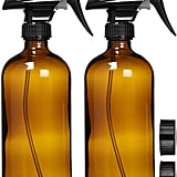 Empty Amber Glass Spray Bottles with Labels