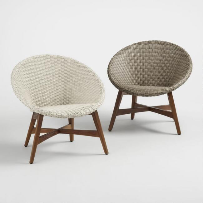 Round All Weather Wicker Vernazza Outdoor Chairs