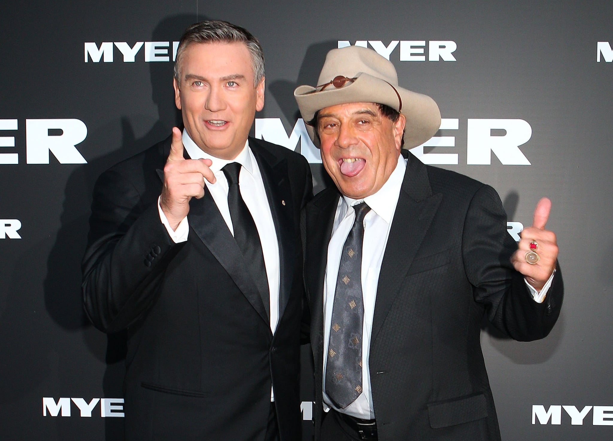 Eddie McGuire and Molly Meldrum
