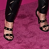 A variation of Selena's Medusa sandals is available to shop for $995.