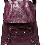 Balenciaga Traveller Textured-leather Backpack - Burgundy ($1,765)